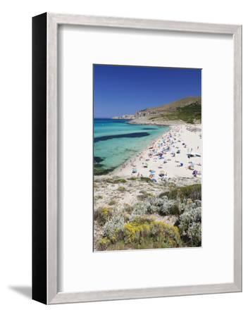 Beach and Bay of Cala Mesquita, Capdepera, Majorca (Mallorca)-Markus Lange-Framed Photographic Print