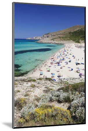Beach and Bay of Cala Mesquita, Capdepera, Majorca (Mallorca)-Markus Lange-Mounted Photographic Print