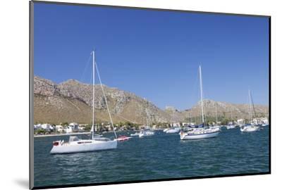 View over the Marina to Port De Pollenca, Pollenca, Majorca (Mallorca)-Markus Lange-Mounted Photographic Print