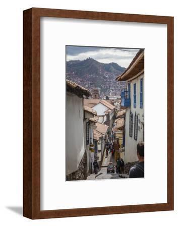 Street Scene in San Blas Neighbourhood, Cuzco, UNESCO World Heritage Site, Peru, South America-Yadid Levy-Framed Photographic Print