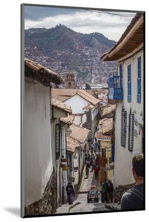 Street Scene in San Blas Neighbourhood, Cuzco, UNESCO World Heritage Site, Peru, South America-Yadid Levy-Mounted Photographic Print