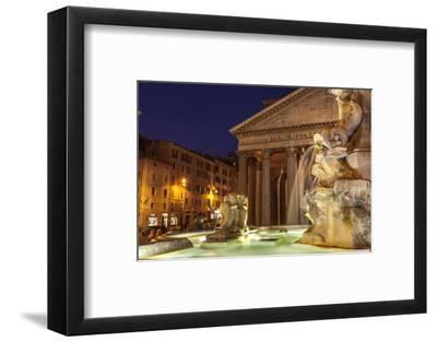 Piazza Della Rotonda and the Pantheon, Rome, Lazio, Italy, Europe-Julian Elliott-Framed Photographic Print