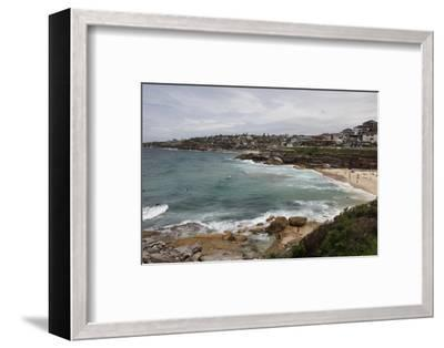 Coastal Path from Bondi Beach to Bronte and Congee, Sydney, New South Wales, Australia, Pacific-Julio Etchart-Framed Photographic Print
