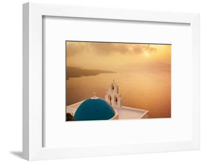 Blue Dome and Bell Tower at Sunset-Neale Clark-Framed Photographic Print