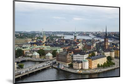 Skyline View over Gamla Stan, Riddarholmen and Riddarfjarden, Stockholm, Sweden-Yadid Levy-Mounted Photographic Print