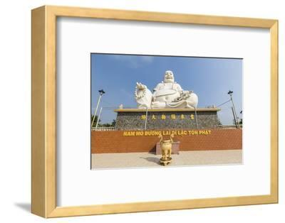 Giant Buddha Statue at Vinh Trang Pagoda, My Tho, Vietnam, Indochina, Southeast Asia, Asia-Michael Nolan-Framed Photographic Print
