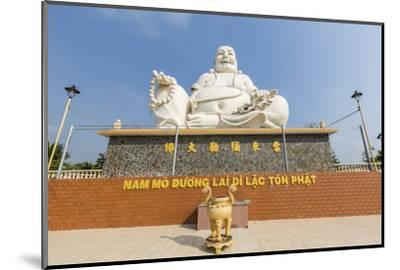 Giant Buddha Statue at Vinh Trang Pagoda, My Tho, Vietnam, Indochina, Southeast Asia, Asia-Michael Nolan-Mounted Photographic Print