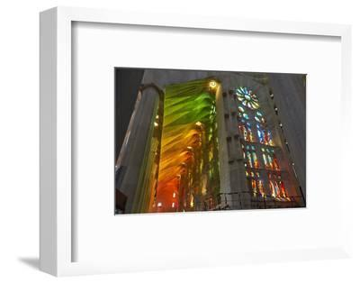 Sagrada Familia, Barcelona, Catalonia, Spain-Mark Mawson-Framed Photographic Print