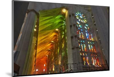 Sagrada Familia, Barcelona, Catalonia, Spain-Mark Mawson-Mounted Photographic Print