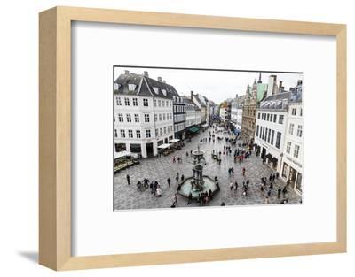 Stroget, the Main Pedestrian Shopping Street, Copenhagen, Denmark, Scandinavia, Europe-Yadid Levy-Framed Photographic Print