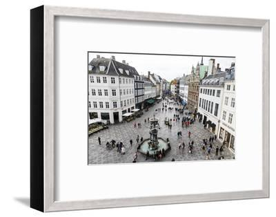 Stroget, the Main Pedestrian Shopping Street, Copenhagen, Denmark, Scandinavia, Europe-Yadid Levy-Framed Photographic Print