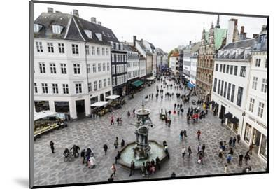 Stroget, the Main Pedestrian Shopping Street, Copenhagen, Denmark, Scandinavia, Europe-Yadid Levy-Mounted Photographic Print