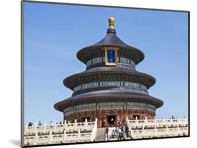 Hall of Prayer for Good Harvests, Temple of Heaven (Tian Tan), Beijing, China-Gavin Hellier-Mounted Photographic Print