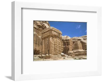 Djinn Blocks, Dating from Between 50 BC and 50 Ad, Petra, Jordan, Middle East-Richard Maschmeyer-Framed Photographic Print