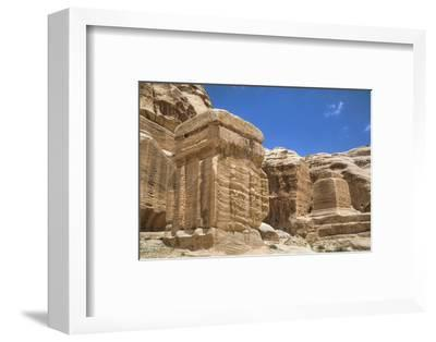 Djinn Blocks, Dating from Between 50 BC and 50 Ad, Petra, Jordan, Middle East-Richard Maschmeyer-Framed Photographic Print