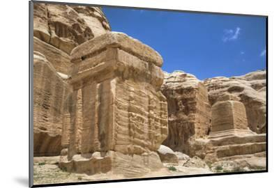 Djinn Blocks, Dating from Between 50 BC and 50 Ad, Petra, Jordan, Middle East-Richard Maschmeyer-Mounted Photographic Print