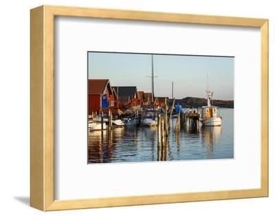 Boats and Timber Houses, Grebbestad, Bohuslan Region, West Coast, Sweden, Scandinavia, Europe-Yadid Levy-Framed Photographic Print