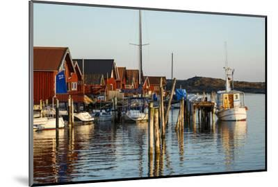 Boats and Timber Houses, Grebbestad, Bohuslan Region, West Coast, Sweden, Scandinavia, Europe-Yadid Levy-Mounted Photographic Print