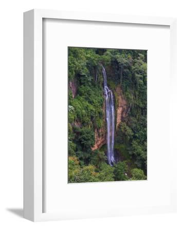 Manchewe Falls Near Livingstonia, Malawi, Africa-Michael Runkel-Framed Photographic Print