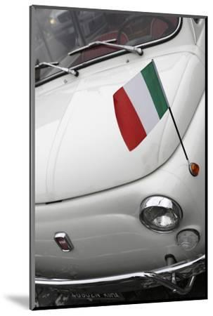 Italian Flag on Fiat 500 Car, Rome, Lazio, Italy, Europe-Stuart Black-Mounted Photographic Print