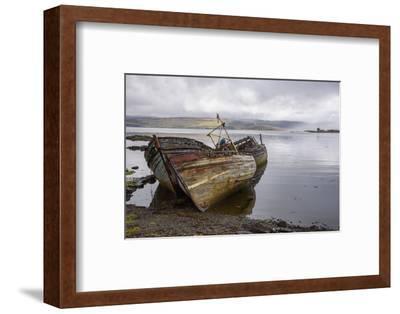 Wrecks of Fishing Boats, Near Salen, Isle of Mull-Gary Cook-Framed Photographic Print