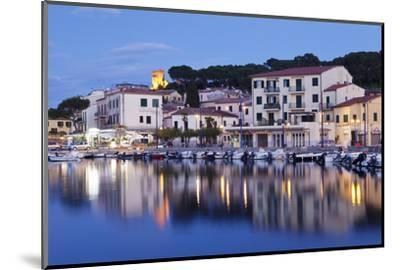Harbour with Torre Della Marina, Marina Di Campo, Island of Elba, Livorno Province, Tuscany, Italy-Markus Lange-Mounted Photographic Print