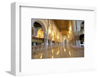 Interior of Hassan Ll Mosque, Casablanca, Morocco, North Africa, Africa-Neil Farrin-Framed Photographic Print