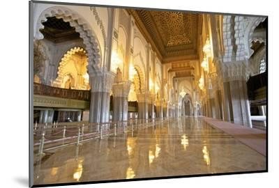 Interior of Hassan Ll Mosque, Casablanca, Morocco, North Africa, Africa-Neil Farrin-Mounted Photographic Print
