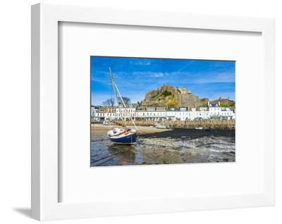 The Town of Mont Orgueil and its Castle, Jersey, Channel Islands, United Kingdom-Michael Runkel-Framed Photographic Print