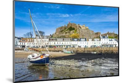 The Town of Mont Orgueil and its Castle, Jersey, Channel Islands, United Kingdom-Michael Runkel-Mounted Photographic Print
