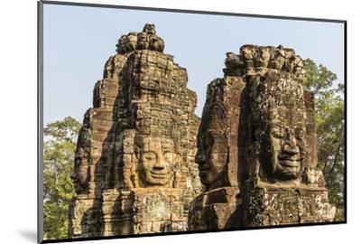 Four-Faced Towers in Prasat Bayon, Angkor Thom, Angkor, Siem Reap, Cambodia-Michael Nolan-Mounted Photographic Print