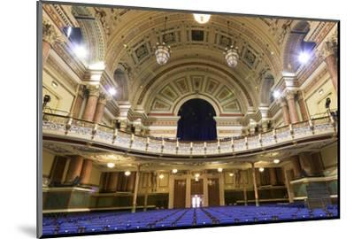 Town Hall Interior, Leeds, West Yorkshire, Yorkshire, England, United Kingdom-Nick Servian-Mounted Photographic Print