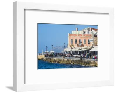 Venetian Harbour of Chania, Crete, Greek Islands, Greece, Europe-Michael Runkel-Framed Photographic Print