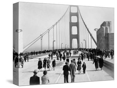 Golden Gate Opening, San Francisco, California, c.1937--Stretched Canvas Print