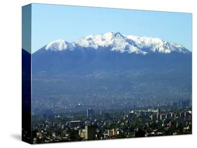 The Ajusco Mountain is Seen Behind Mexico City--Stretched Canvas Print
