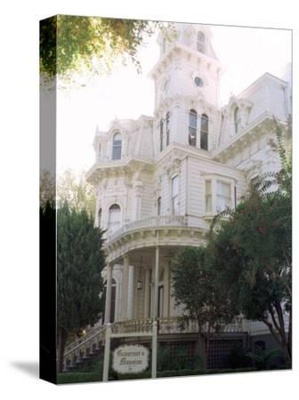 The Former California Governors Mansion Seen in Downtown Sacramento, California-Rich Pedroncelli-Stretched Canvas Print