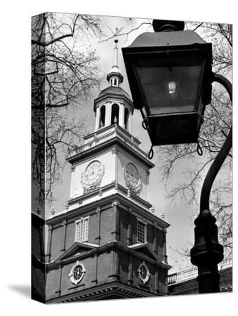 This View Shows Independence Hall--Stretched Canvas Print