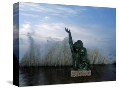 Hurricane Ike, Galveston, TX--Stretched Canvas Print