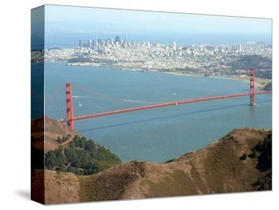Golden Gate Bridge-Noah Berger-Stretched Canvas Print