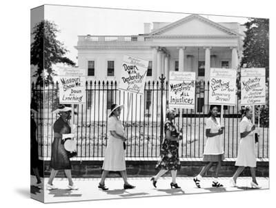 Parade Past the White House--Stretched Canvas Print