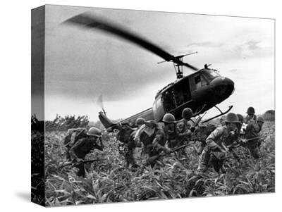 Vietnam War U.S. Army Helicopter-Nick Ut-Stretched Canvas Print