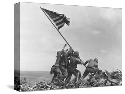 Iwo Jima Flag Raising-Joe Rosenthal-Stretched Canvas Print