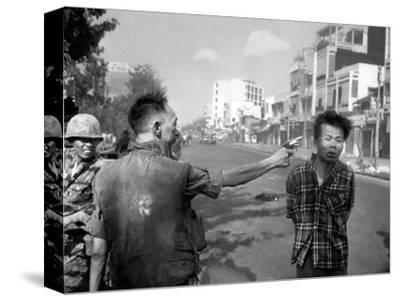 Vietnam War Saigon Execution-Eddie Adams-Stretched Canvas Print