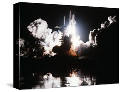 Challenger Liftoff 1983--Stretched Canvas Print