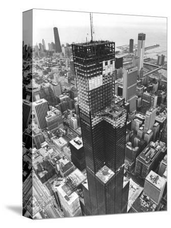 Chicago Sears Tower Topping--Stretched Canvas Print