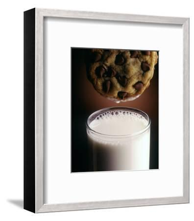 Chocolate Chip Cookie and Milk-John T^ Wong-Framed Photographic Print