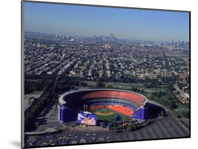 Shea Stadium, Aerial View, Ny Mets-Bruce Clarke-Mounted Photographic Print