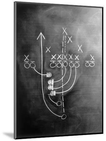 Football Play on Chalkboard-Howard Sokol-Mounted Photographic Print