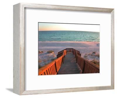 Boardwalk Leading to Shore-Pat Canova-Framed Photographic Print