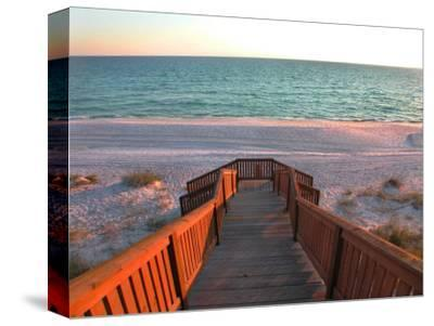 Boardwalk Leading to Shore-Pat Canova-Stretched Canvas Print